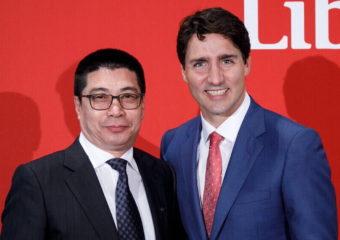 加拿大工商联主席和总理合照